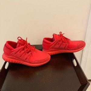 Adidas Tubular Nova, Triple Red - Size 10